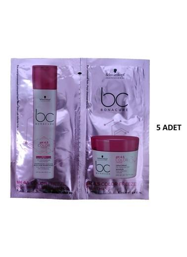 Bonacure Schwarzkopf Bonacure 4.5 pH Color Freeze Rich Şampuan 12ml Maske 12ml 5 Adet Renksiz